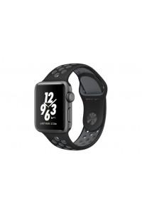 Apple Watch Nike+ 38 мм, корпус из алюминия цвета «серый космос», спортивный ремешок Nike цвета «чёрный/холодный серый»