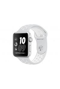 Apple Watch Nike+ 42 мм, корпус из серебристого алюминия, спортивный ремешок Nike цвета «чистая платина/белый»